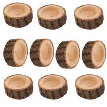 8/10 Uds rama de árbol de madera portavelas Vintage té luz candelabro artesanías de madera adornos decoración de la cena de boda