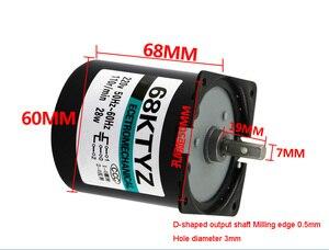 Image 3 - 68KTYZ 28 واط التيار المتناوب 220 فولت المغناطيس الدائم متزامن موتور تروس