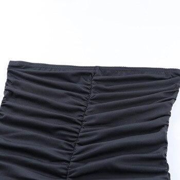 Forefair Black Sports Jumpsuit Women Sexy Strapless Ruched Slim Bodycon One Piece Bodysuit 2020 Summer Women Rompers 10