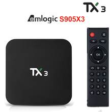 Tx3 tx3 android 9.0 caixa de tv amlogic s905x3 h.265 8k hdr 2.4g/5ghz wifi duplo 4g 32g/64g wifi 8k bluetooth google play youtub