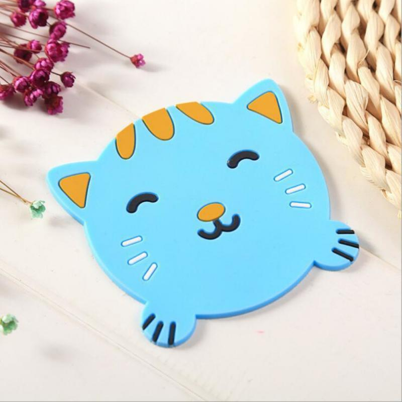 Animal Cartoon Shape Silicone Coaster Non-slip Heat-resistant Durable Placemat For Home Kitchen Table Mats Bowl Mats Pot Holders