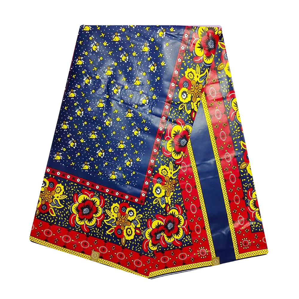 Nigerian Super Java African Wax Fabric Cotton Ankara Real Veritable Block Print Pange Wax Materials For Women Dresses 6 Yards