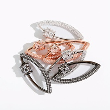 Luxury CZ DIY Jewelry Making Necklace Pendants Classic Geometric Handmade Copper Screw Clasps Accessories For Women