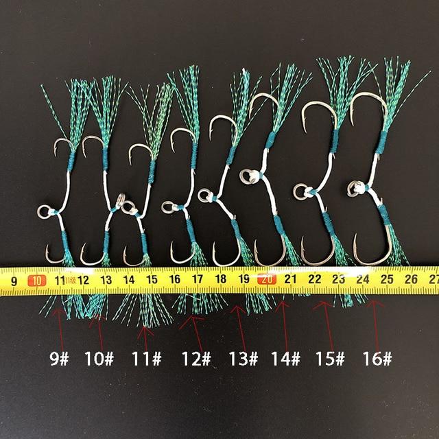 Best 3pair/lot Fishing Hook Assist hooks Jig Lure Hook Fishhooks cb5feb1b7314637725a2e7: 3 pair silver red|3 pairs silver blue|3pair black red