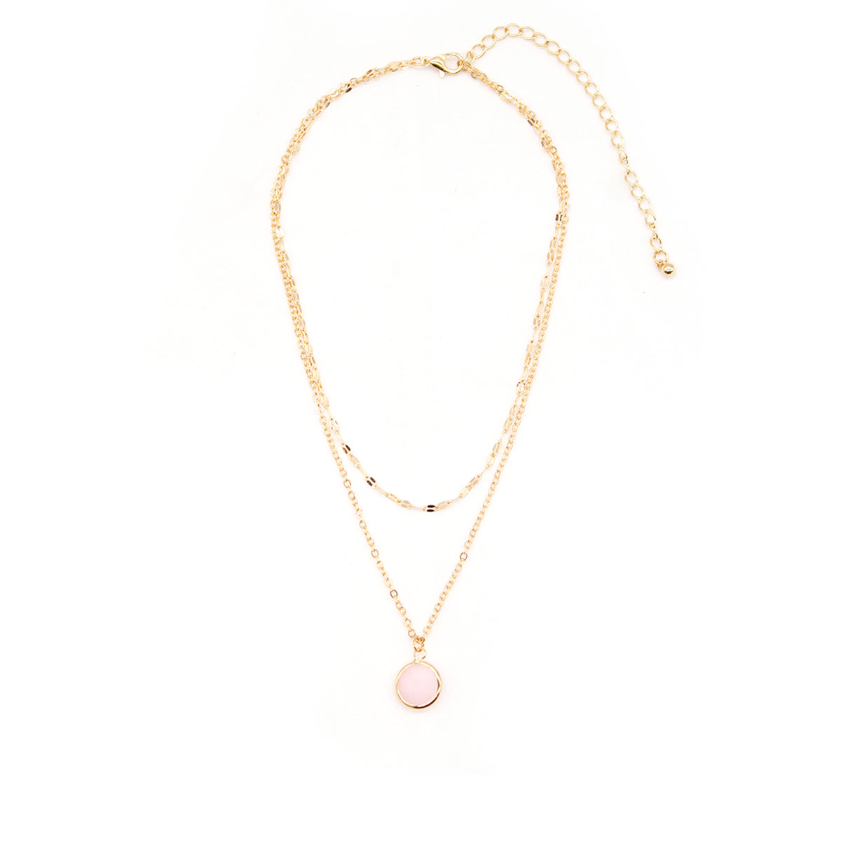 Fashion Layered Choker Chain Necklace Charms Women Cute Alloy Stone Pendant Clavicle Necklace Jewelry in Pendant Necklaces from Jewelry Accessories