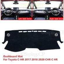 Tapis de protection pour tableau de bord de voiture, accessoire de haute qualité pour Toyota C-HR 2017 2018 2020 CHR C HR