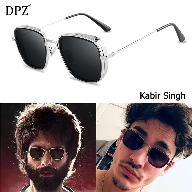 DPZ NEW Fashion Kabir Singh SteamPunk Style aviation men Sunglasses Cool Brand Design Popular rayeds Sun Glasses Oculos De Sol