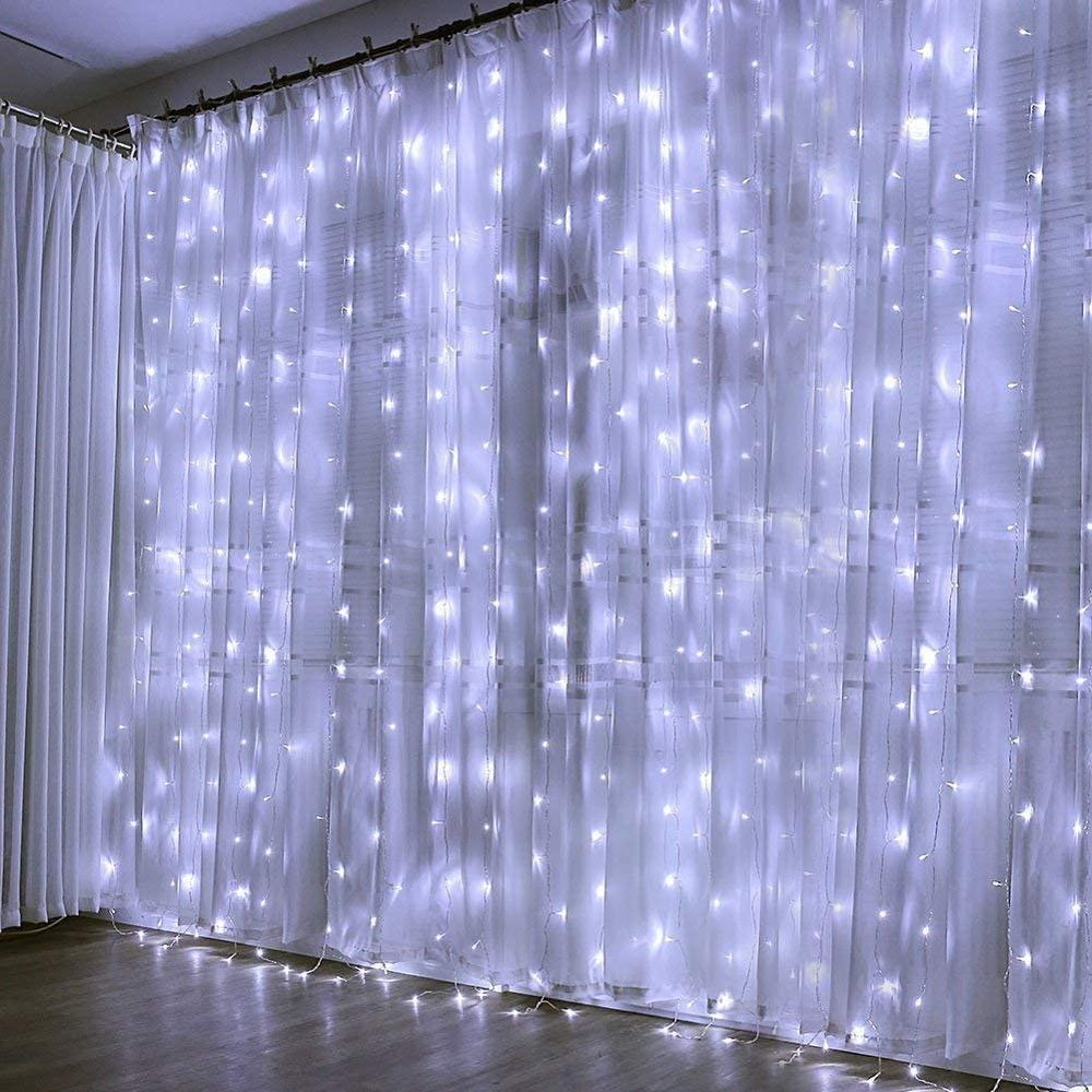 3M LED Garland Window Curtain String Lights Fairy Light Home Decoration On The Window Wedding Party Holiday Lighting