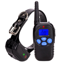 Remote dog electric collar waterproof rechargeable pet dog training collar beep vibration electric shock collar with LCD display