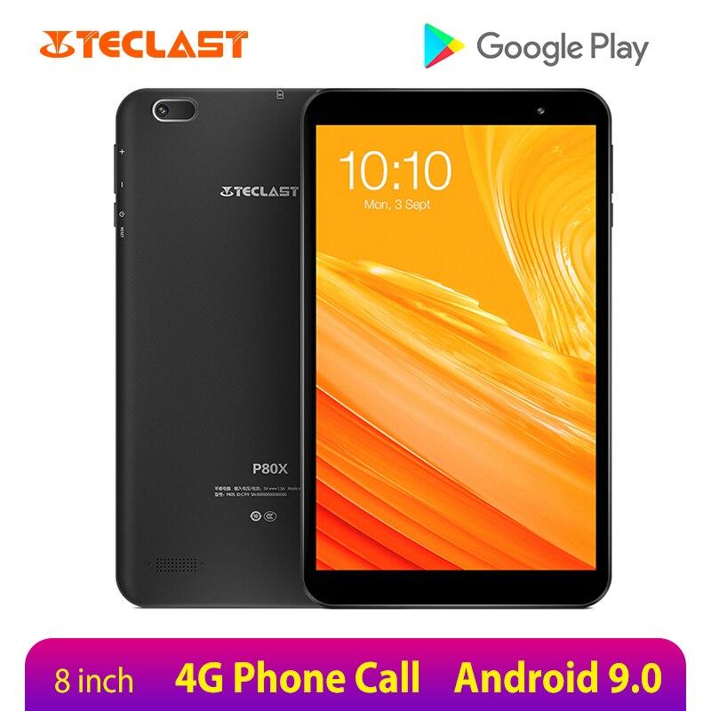 Teclast P80X 8 pulgadas Tablet Android 9,0 4G Phablet SC9863A Octa Core 1280*800 IPS 2GB RAM 32GB ROM Tablet PC cámaras duales GPS