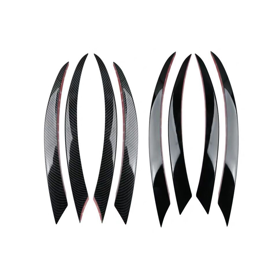 Front <font><b>Bumper</b></font> Lip Splitter Spoiler Fog Lights Trim Sticker for Mercedes <font><b>Benz</b></font> C Class <font><b>W205</b></font> C180 C200L/C180L image