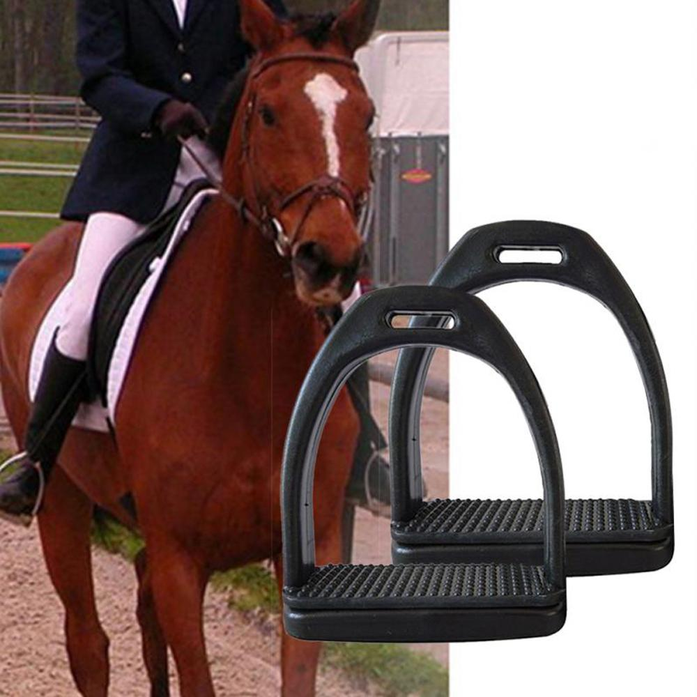 2PCS Horse Riding Stirrups Flex Aluminum Horse Saddle Anti-skid Horse Pedal Equestrian Safety Equipment Men Women Children Adult
