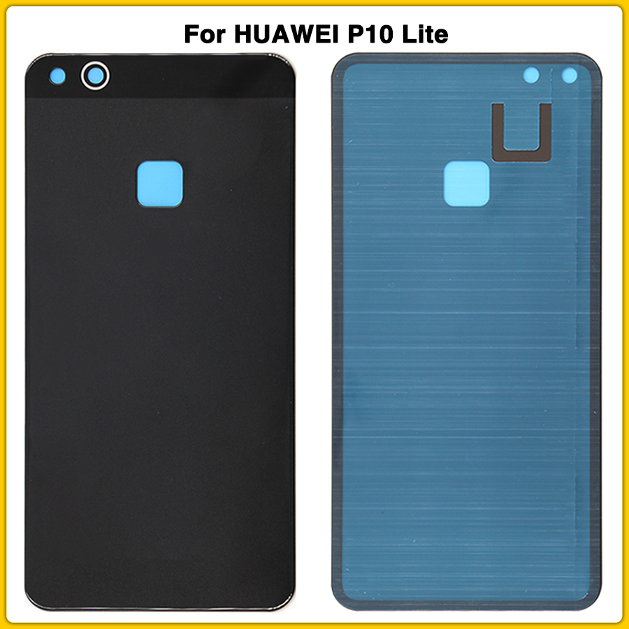 10PCS Rear P10 Lite Back Glass Housing Case For <font><b>HUAWEI</b></font> P10 Lite 5.2'' <font><b>Battery</b></font> Back Cover Door Rear Cover With Adhesive Sticker image