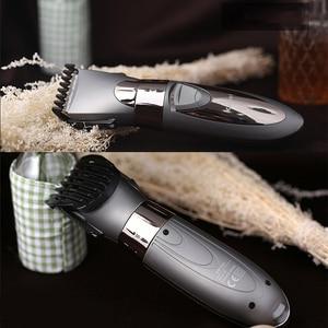 Image 2 - Перезаряжаемый триммер для волос Kemei, водонепроницаемый беспроводной триммер для стрижки волос в носу и бороде, триммер, триммер, инструмент 5