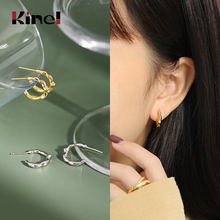 Kinel 100% 925 Sterling Silver Earrings Korea Fashion INS Irregular Minimal Design Party Wedding Jewelry