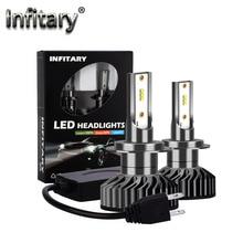 H7 светодиодный головной светильник лампочка H4 светодиодный H11 H3 H8 H1 9005 HB3 9006 HB4 9007 с зэс чипы 8000LM 6500K 72W 12V Автомобильная Противо-Туманная светильник автомобильных ламп