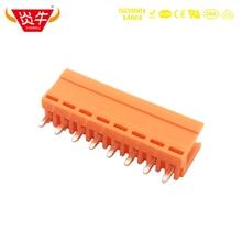 3.96mm HT396V 3.96 2P ~ 12P PCB CONNECTOR PLUG-IN TEMINAL BLOCK 15EDGVC 2PIN ~ 12PIN ORANGE WIRING TERMINAL PHOENIX CONTACT KEFA