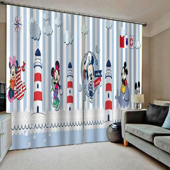 Luxury Blackout 3D Window Curtain For Living Room cartoon curtains kids curtain