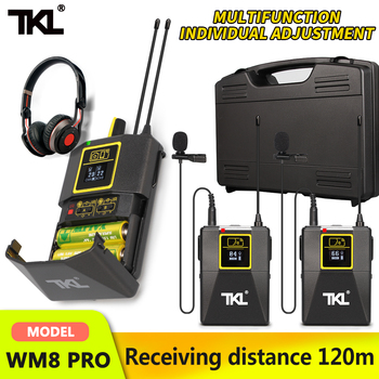TKL PRO UHF Wireless Lavalier Lapel Microphone with Bodypack Transmitter SLR/phone wireless mic system Youtube Video Recording xtuga uhf wireless lavalier lapel microphone system live recording mic with rechargeable transmitter