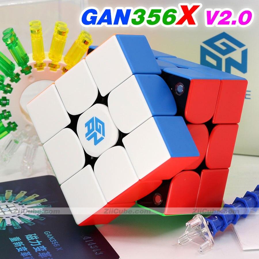 Puzzle Magic Cube GAN 356 356x GAN356 X Magnetic 3x3x3 3x3 Cube GAN460M 460M 460 M 4X4X4 GAN356 RS SM 2019 Speed Cube Toy