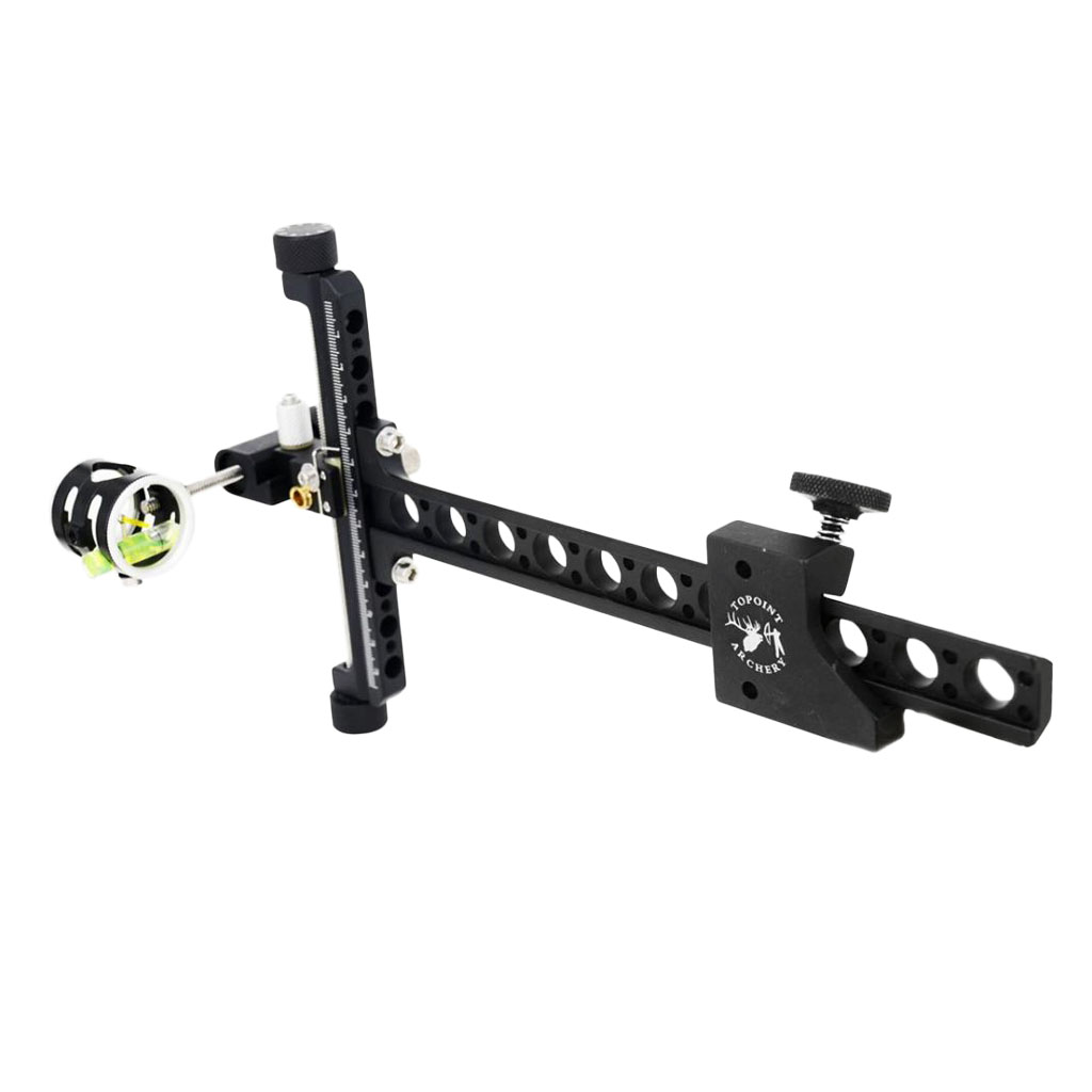 1-Pin 4x CNC Processing Aluminum Alloy Archery Compound Bow Sight With Micro Adjustable Long Pole