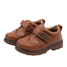 Children Little Boys Leather Shoes For Kids Boys Toddler Breathable Casual Single Shoes New 2020 1 2 3 4 5 6 7 Years Brown Black(China)