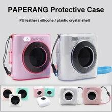 Camera-Bag Travel-Accessory Photo-Printer Plastic Silicone PAPERANG P2 P1S Crystal-Shell