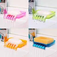 Suction Cup Water Drain Soap Dish Tray Non Slip Soap Box Toilet Shower Tray Draining Rack Shower Soap Holder Bathroom Accessory