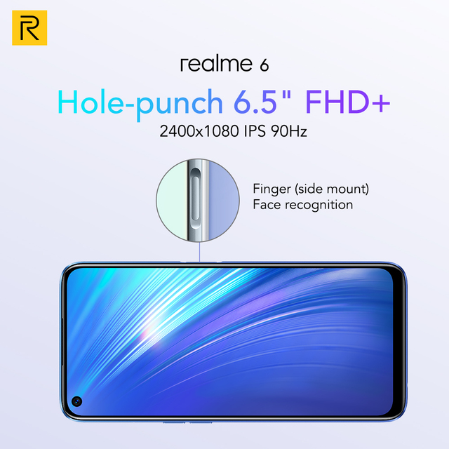 realme 6 NFC Global Version 4GB 128GB Mobile Phone 90Hz Display Helio G90T 30W Flash Charge 64MP Camera Telephone Android Phones 10
