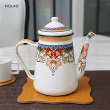 NLSLASI glass jug 1.2 liters resistant kettle and glass set kettle gas stove to make tea and coffee for household use
