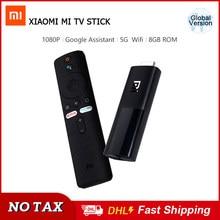 Xiaomi-Mi TV Stick Global Original, Android TV 9,0, decodificador Dual Dolby DTS HD de cuatro núcleos, 1GB de RAM y 8GB de ROM, asistente de Google y Netflix