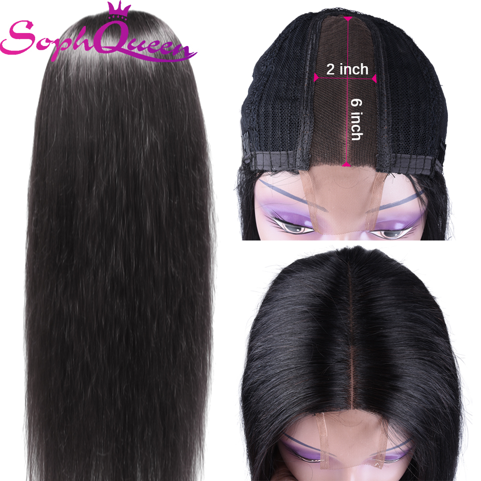 Soph Queen Straight 2*6 Lace Part Wig Human Hair Wigs For Black Women Peruvian Remy Hair Human Hair Wigs  Lace Part Wig