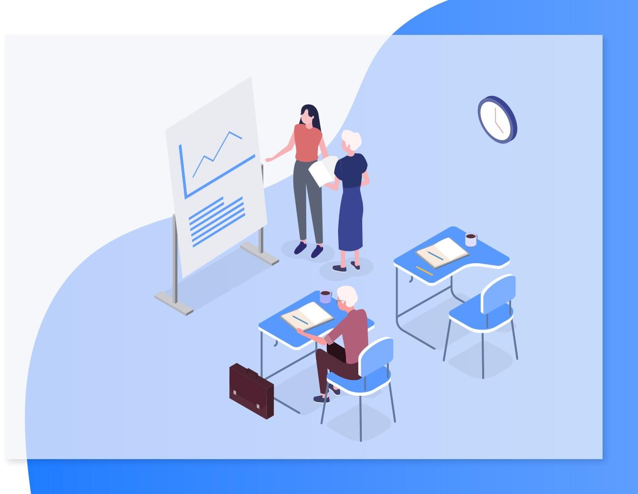 矢量图形-18款UI设计2.5D工作学习场景立体三维插画作品网页插图APP素材(15)