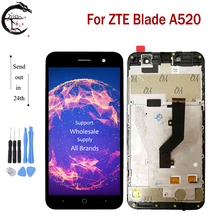 """5.0"""" LCD With Frame For ZTE Blade A520 Full LCD Display Touch Sensor Screen Digitizer Sensor Assembly For ZTE A520 A 520 Display"""