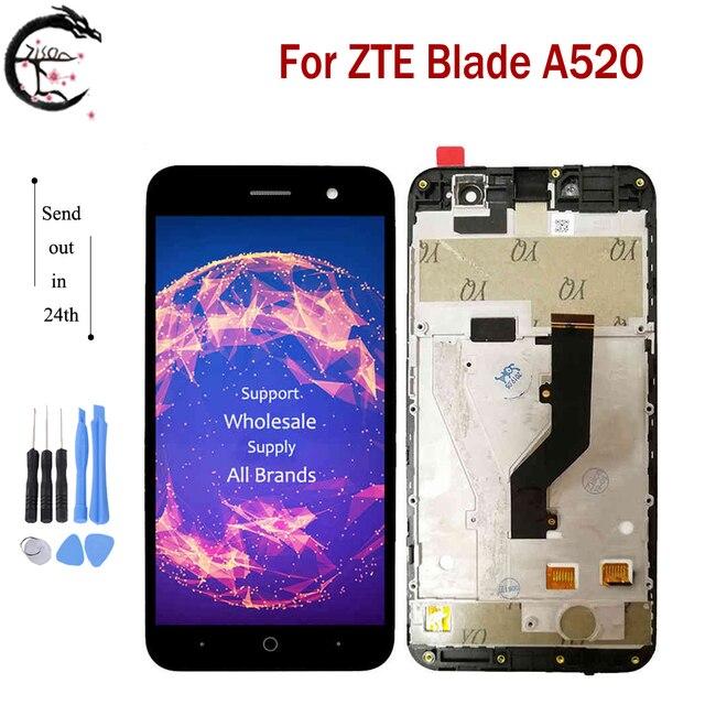 """5,0 """"ЖК дисплей с рамкой для ZTE лезвие A520 полный ЖК дисплей Дисплей сенсорный Сенсор Экран планшета Сенсор в сборе для ZTE A520 520 Дисплей"""