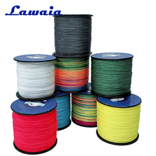 купить Lawaia Fishing Line 300m 4 Strands UHMWPE Braided Fishing Line Multifilament Fly Fishing Line Dneema 10LB 20LB 50LB Braid Thread дешево
