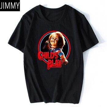 Chucky-Camiseta de Horror para Hombre, Camiseta de algodón estética Vintage negra, ropa...