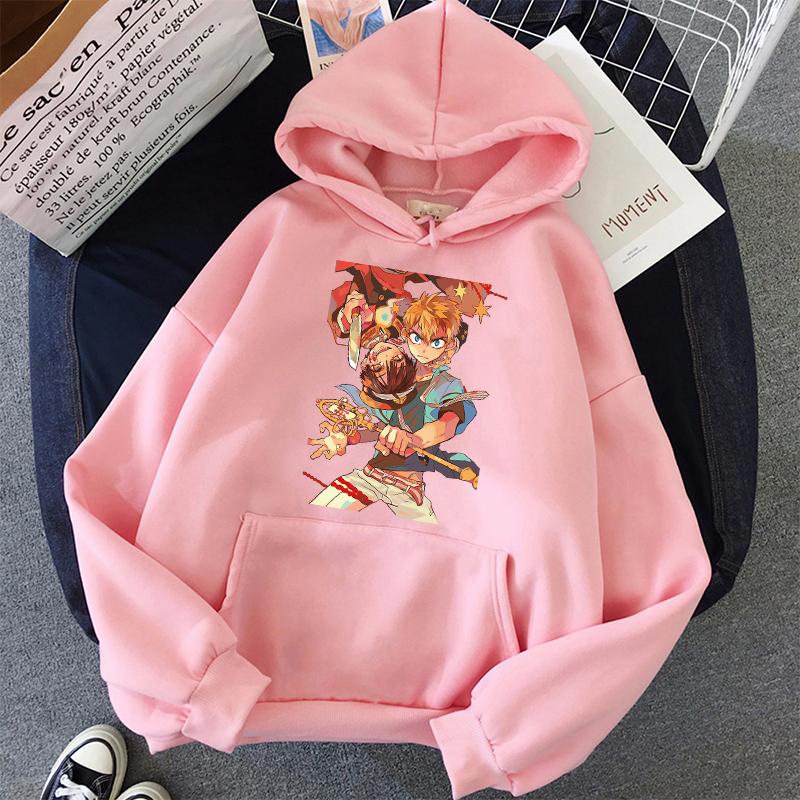 Jibaku Shounen Hanako kun Harajuku Womens Hoodie Fashion Fleece Hoodies Casual Clothes Street Loose Female Sweatshirt 8