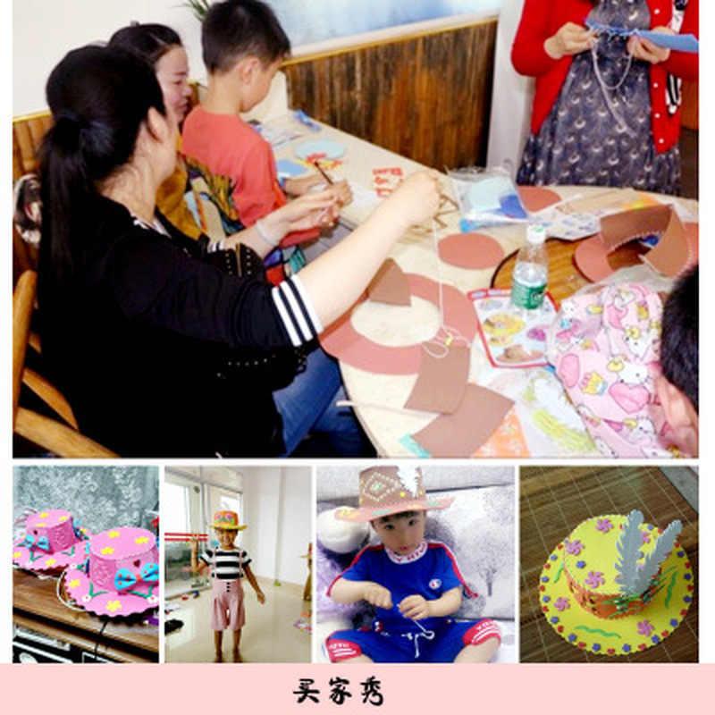 Pianka EVA Puzzle tkactwo kapelusz Handmade kreatywne kwiaty gwiazdy wzory sztuka przedszkolna dzieci DIY Craft dekoracje świąteczne zabawki