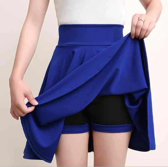 Plus Size 4XL Shorts Skirts Womens 2020 Summer A line Sun School High Waist Pleated Skirt Female Korean Elegant Skirt LJ30