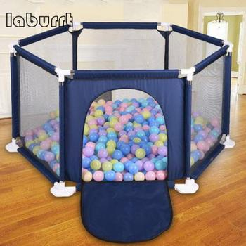 Children's Game Folding For Kids Fence Six-sided Fence Color Ball Pool Tent Game House Balls Children's Tent For Baby Safety Bar