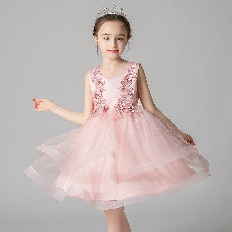 CHILDREN'S Full Dress 3-8-Year-Old Medium-small GIRL'S Princess Dress Women's Puffy Gauze Skirt Performance Costume Summer Style