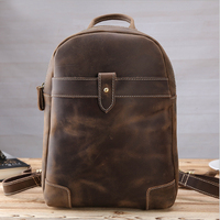 MAHEU 100% Genuine Leather Sling Backpack Zipper One Shoulder Backpack Mini Travel Bagpack Men Women Fashion Chest Sling Bag