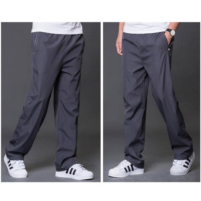 Plus Size 6XL Men's Summer/Autumn Pants Men Casual Pants Mens Breathable Quick Dry Trousers Male Loose Wide Leg Pants AM412 6