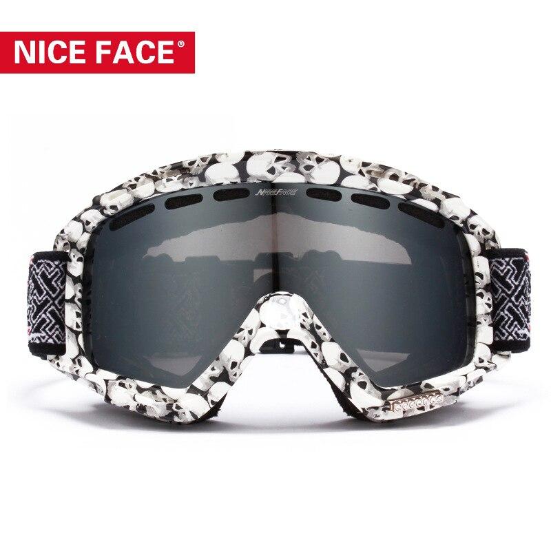 Genuine Product Nice Face Double Layer Anti-fog Ski Goggles Snowboard Ski Goggles Mountain Climbing Windproof Eye-protection Gog