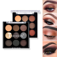 9 Color Eye Shadow Palette Long-lasting Waterproof Shimmer Matte Eyeshadow Pigmented Eye Shadow Palette maquillage new brand 9 color pigmento eye shadow palette professional shimmer matte eyeshadow make up palette maquiagem