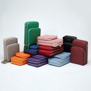 Image 2 - 3 kat büyük kapasiteli cep telefonu omuzdan askili çanta kadın iki zincir çanta kadın Mini çapraz postacı çantası küçük Tote çanta