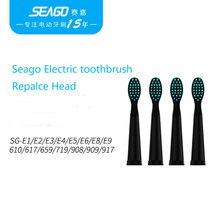 Seago Doux Têtes De Brosse À Dents de Rechange Pour Seago SG-507 910 610 917 659 719 E1 E2 E7 E8 Électrique Tête de Brosse À Dents
