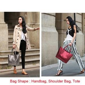 Image 5 - Silver Cow Genuine Leather Women Bags 2020 Big Handbag Fashion Top handle Hand Bag Ladies Tote Large Luxury Female Shoulder Bag