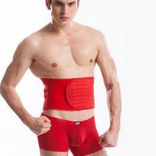 цены Mens Waist Trainer Shaper Firm Control Breathable Belt Magic Paste Stretch Girdle Super Firm Tummy Shaper Slimming Men Corset
